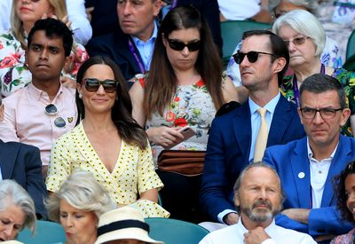 Pippa Middleton and husband James Matthews attend Wimbledon, July 2019