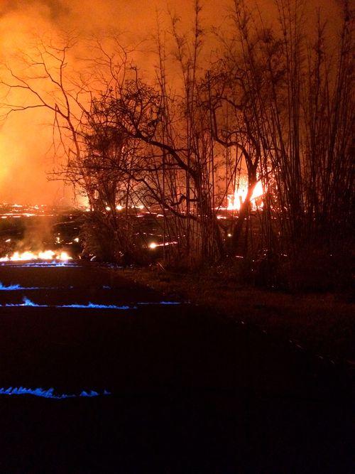 Hawaii's Kilauea volcano is causing blue flames (U.S. Geological Survey)