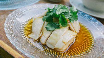 Hainanese peranakan chicken rice