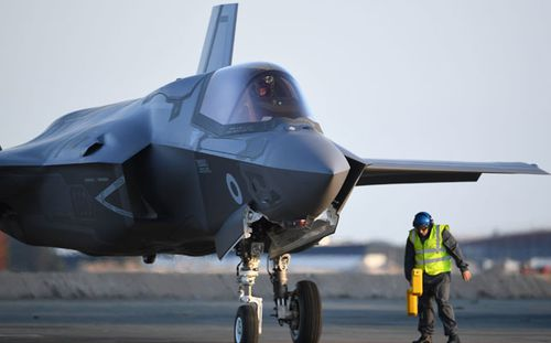 The British military has just taken delivery of the first batch of its F-35 fighters. (Photo: PA).