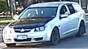 Ipswich detectives investigating the murder of a man at a Gailes home on the weekend are looking for this silver Holden Commodore.