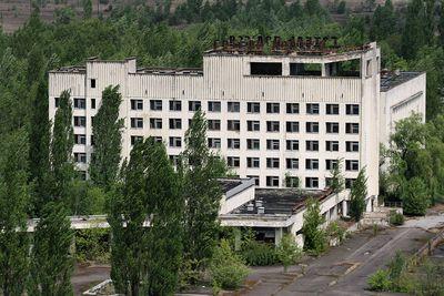 <strong>Polissya Hotel, Pripyat, Ukraine</strong>
