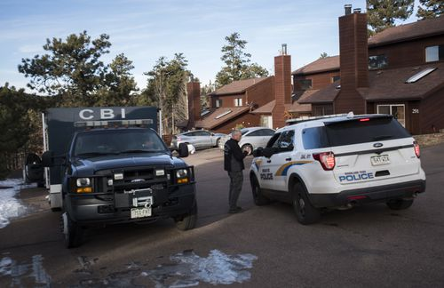 Members of the Colorado Bureau of Investigation and the Woodland Park, Colorado, Police arrive at the home of Kelsey Berreth.