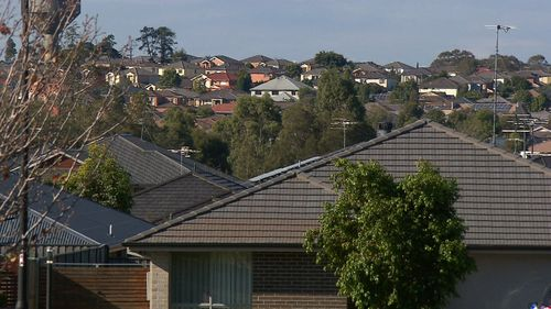 If interest rates rise just 1 percentage point, some suburbs will be so badly hit that almost every house in the area will be affected. Picture: 9NEWS