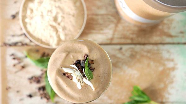 Espresso protein smoothie recipe courtesy of Australian Organic