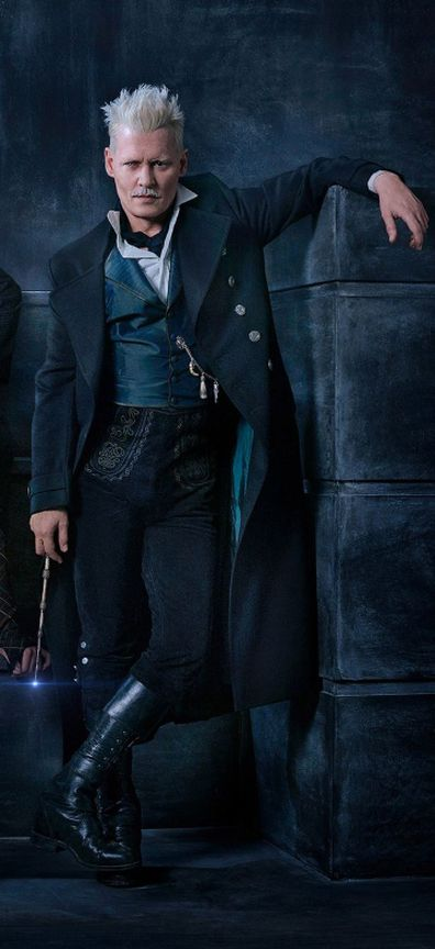 Johnny Depp as Gellert Grindelwald in Fantastic Beasts