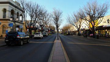 Macquarie street in the Dubbo centre.
