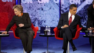 But Obama had to dispense with the frontrunner for the nomination, former First Lady and Senator Hillary Clinton. In the closest primary battle in US history, Obama was able to overcome Clinton with overwhelming support from young voters. (AP)