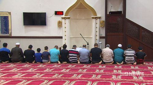 The mosque has welcomed him back in. (9NEWS)