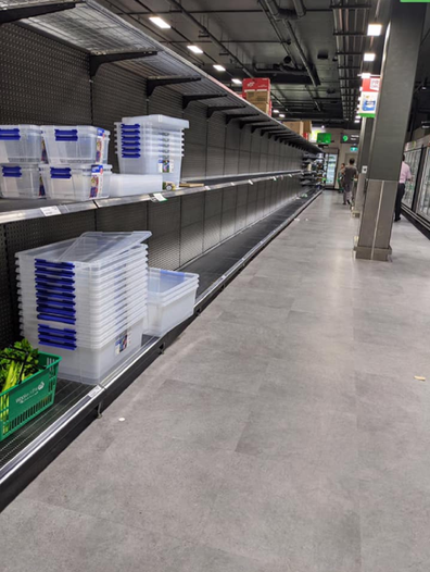 Niki empty shelves Woolies Dee Why