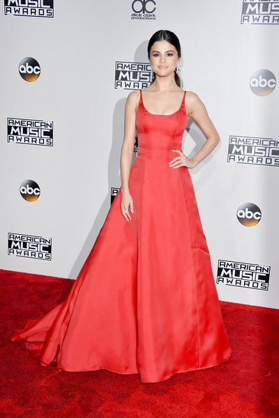 <p>Number one</p> <p>Selena Gomez.</p> <p>Prada is the perfect choice for this red carpet return. </p>