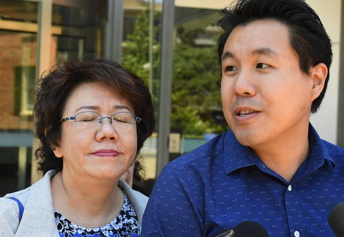 Curtis Cheng's wife Selina and his son Alpha were present for the sentencing.