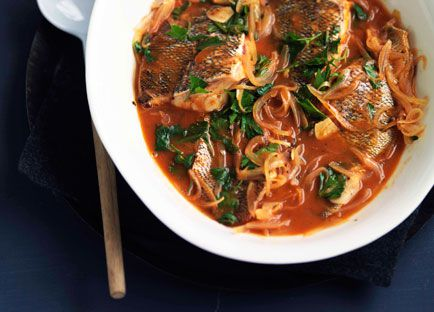 Spicy Corfiot seafood stew (Bourdetto)