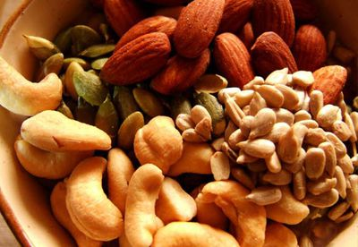 Nuts, seeds and dried fruit snacks