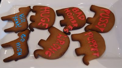 <p>Biscuits at the University of Sydney event.</p> <p>(AAP)</p>