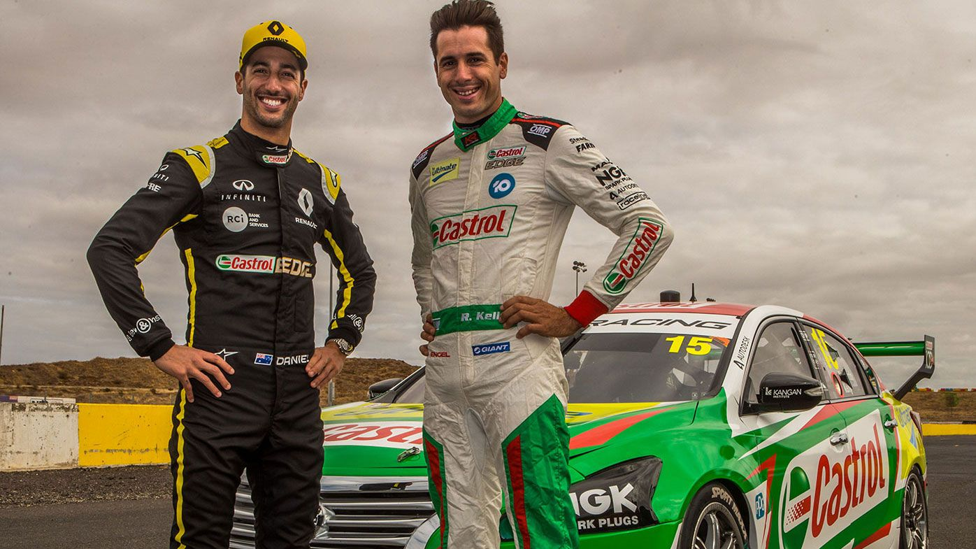 Daniel Ricciardo gets behind the wheel of Nissan Supercar
