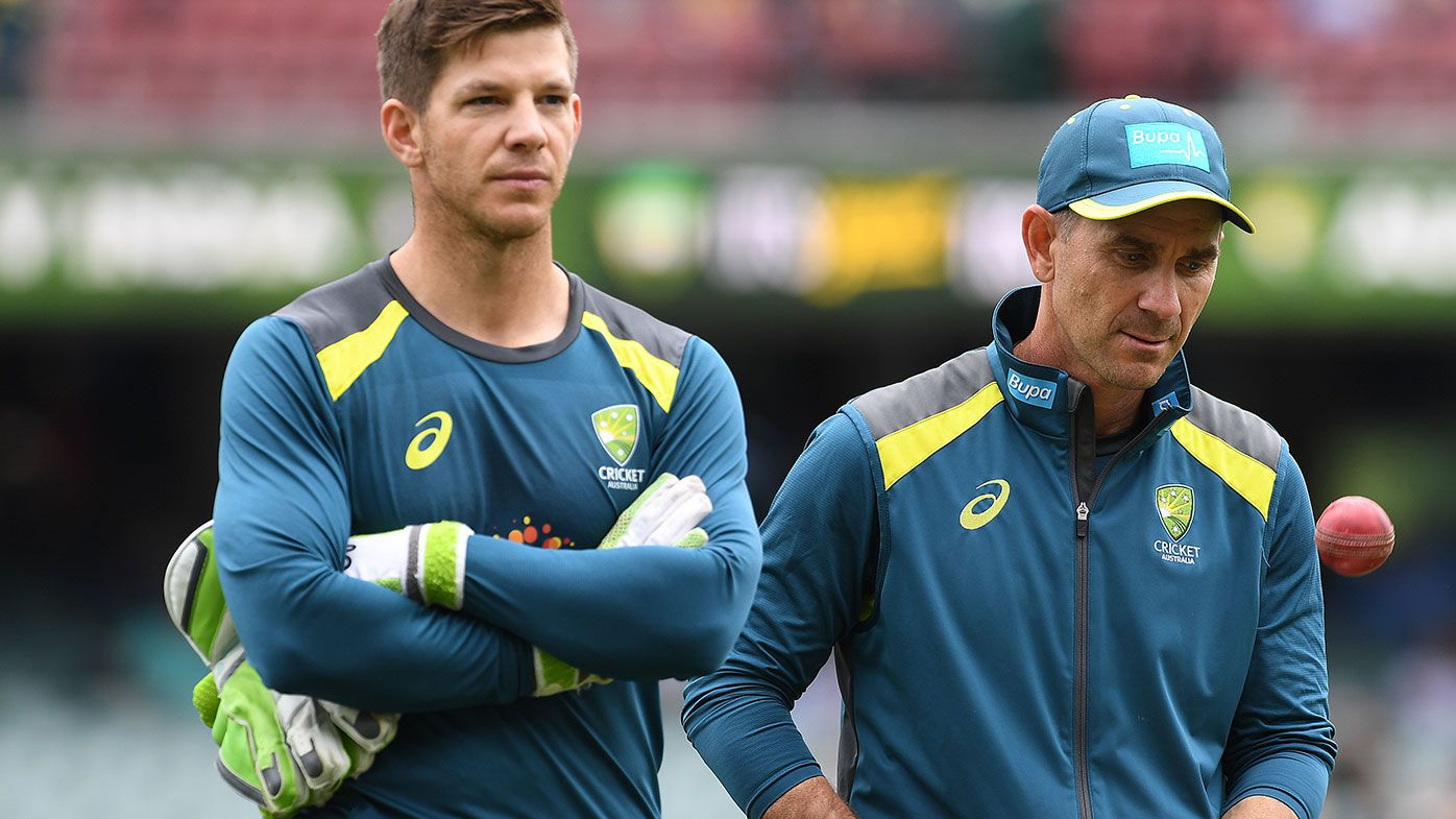 Tim Paine (left) and Justin Langer.