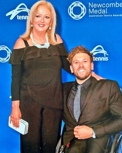 Dylan Alcott disability with his mother