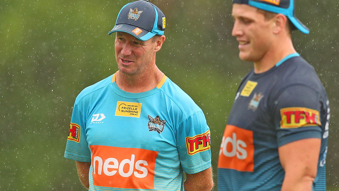Coach Justin Holbrook looks on during a Gold Coast Titans