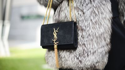 <p>The suede bag</p>