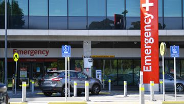 A man remains in the Royal Adelaide Hospital after being shot in the face before crashing into a tree.