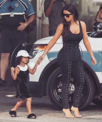 North displaying a little fashion know-how of her own.