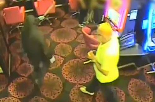 The man was told to hand over his phone before launching his own attack on one of the robbers.