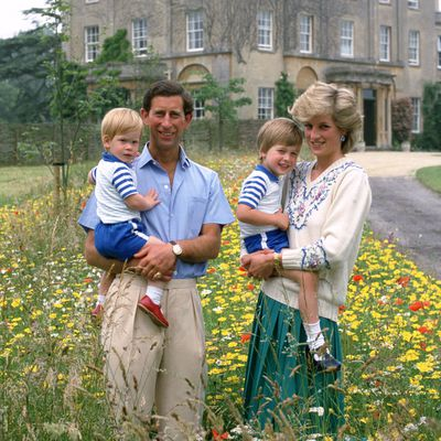 Prince Charles and Princess Diana with sons William and Harry