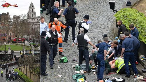 Scenes of carnage in the aftermath of the London terror attack.