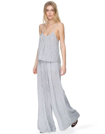 "<p><a href=""https://www.theiconic.com.au/surrealism-cami-206564.html"" target=""_blank"" draggable=""false"">BC Surrealism Cami in stripe, $119.95</a></p> <p> <a href=""https://www.theiconic.com.au/expressionism-pants-206565.html"" target=""_blank"" draggable=""false"">BC Expressionism Pants in stripe, $179.5</a></p> <p> </p>"