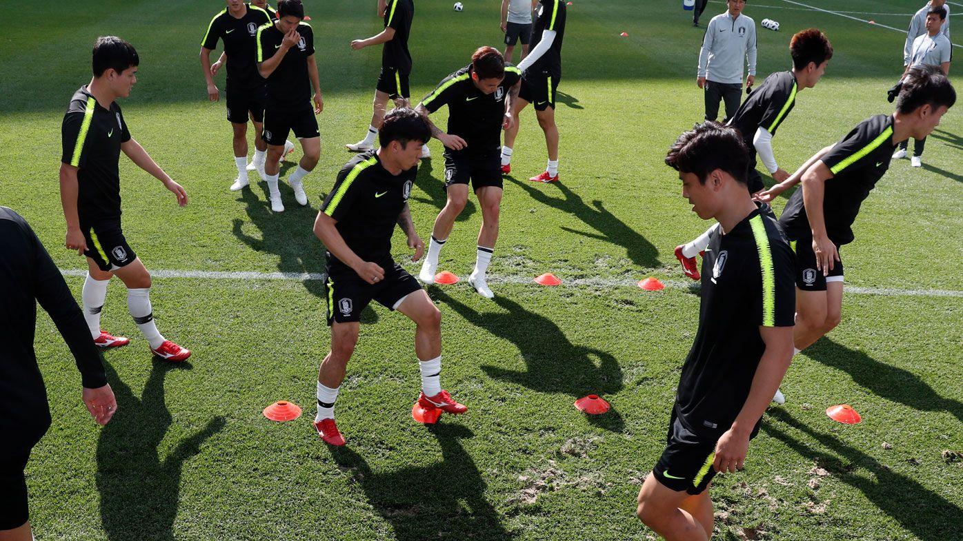 South Korea training