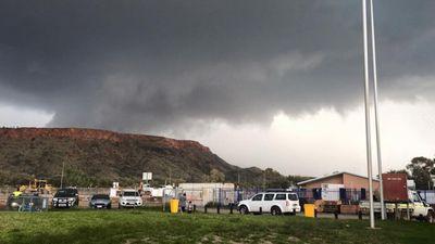 <p>Dark clouds over Alice Springs.</p> <p>(Sam Fitzgerald)</p>