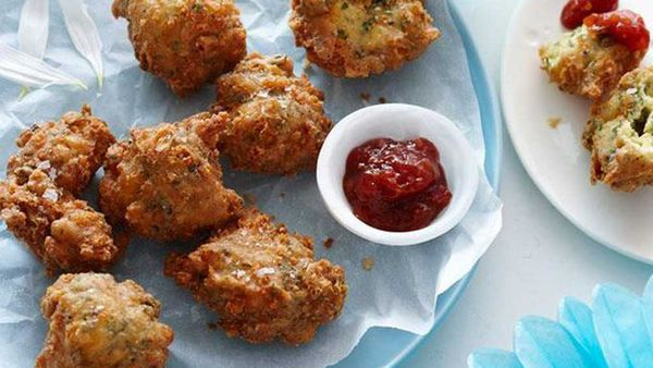 Cheese and herb beignets
