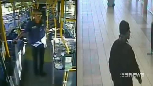 CCTV shows both men minutes before the attack.