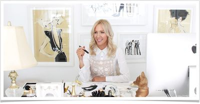 Acclaimed illustrator Megan Hess in her home office.