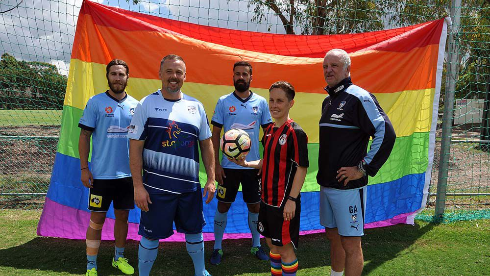 Sydney FC and a rainbow flag