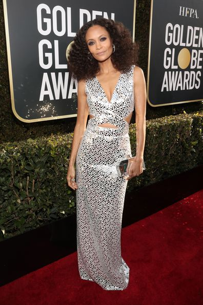 Thandie Newton arrives to the 76th Annual Golden Globe Awards held at the Beverly Hilton Hotel on January 6, 2019.