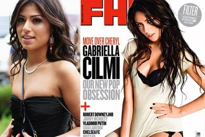 """Aussie singer Gabriella Cilmi was surprised to find she'd been given a """"free boob job"""" when she posed for <i>FHM</i>."""