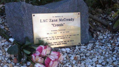 Zane McCready's grave.(Supplied)