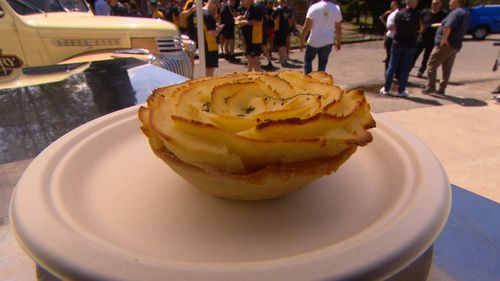 A Sydney bakery has raised $10,000 selling a specially created cottage pie in honour of  Prince Harry.