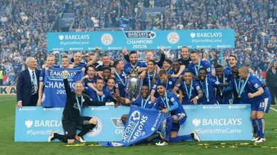 English Premier League minnows Leicester City defied all odds to win their first top-tier football title in 132 years. (AAP/David Klein/Sportimage via PA Images)