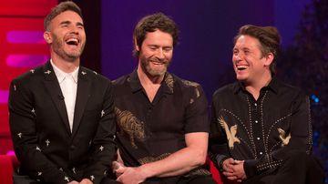 Take That's Gary Barlow, Howard Donald and Mark Owen. (AAP)