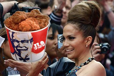 """Apparently this is JLo's favourite meal to make at home. So if you're into posh KFC, celebrity style, give this recipe a whirl!<br/><br/><a href=""""http://celebrities.ninemsn.com.au/blog.aspx?blogentryid=934988&showcomments=true"""" target=""""new"""">CLICK HERE FOR THE RECIPE</A>"""