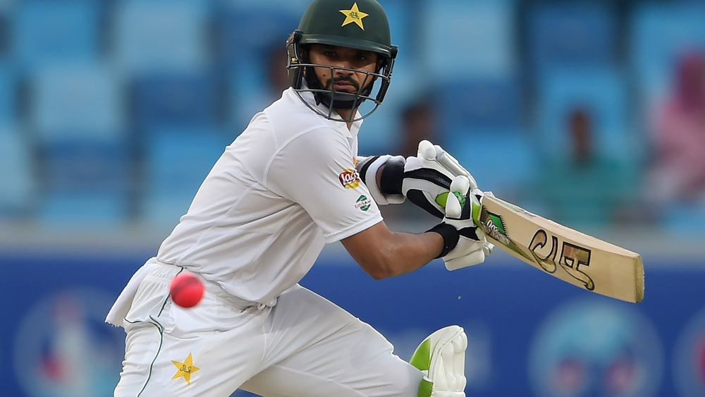 Azhar Ali scored an unbeaten 146 on the first day of the second ever day-night Test. (AFP)