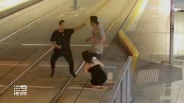 Man fined over ex-lovers brawl on tram tracks in Surfers Paradise