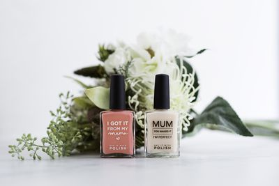 "<p><a href=""https://www.hardtofind.com.au/141942_i-got-it-from-my-mama-nail-polish-in-various-colours"" target=""_blank"" draggable=""false"">Say It With Polish - Got It From My Mama Polish, $29.</a></p> <p> </p> <p> </p> <p> </p>"