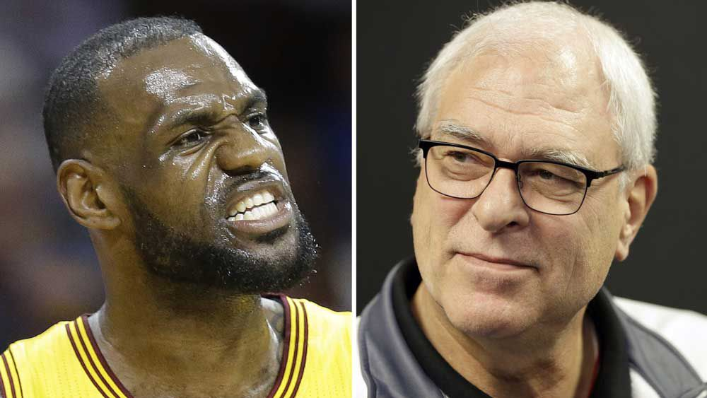 LeBron James and Phil Jackson. (AAP)