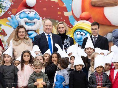Monaco royal family Christmas Party