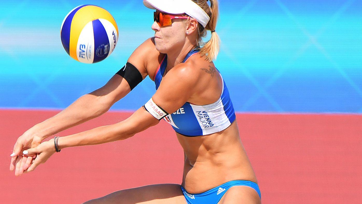 Marketa Slukova of Czech Republic passes the ball in 2019