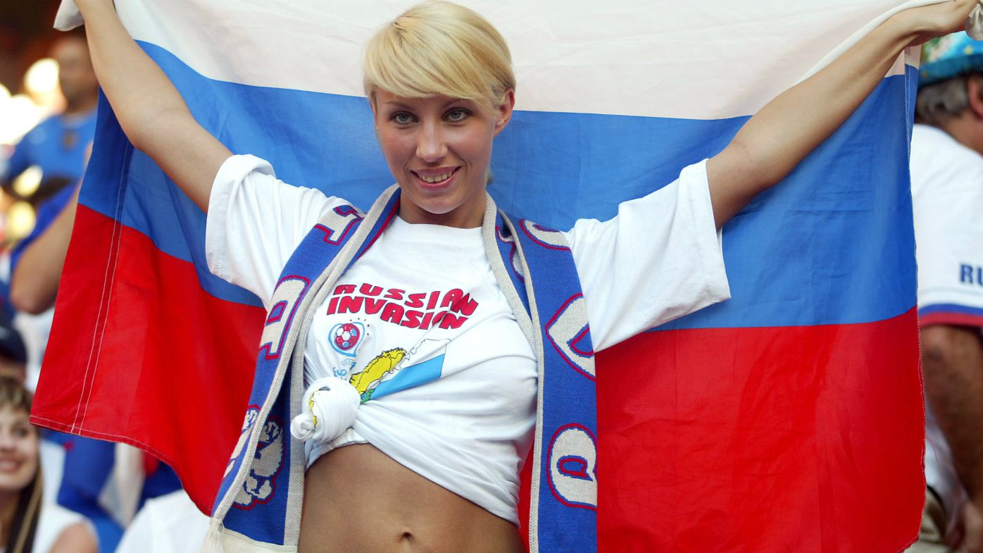 Russia football fan